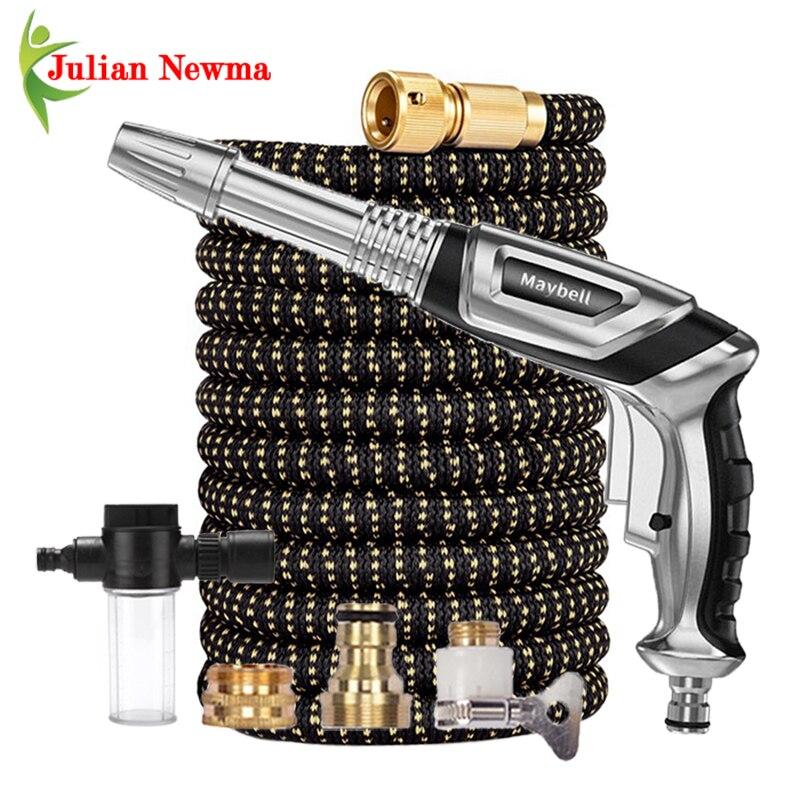 Pistola de agua de alta presión, juego de manguera de jardín con...
