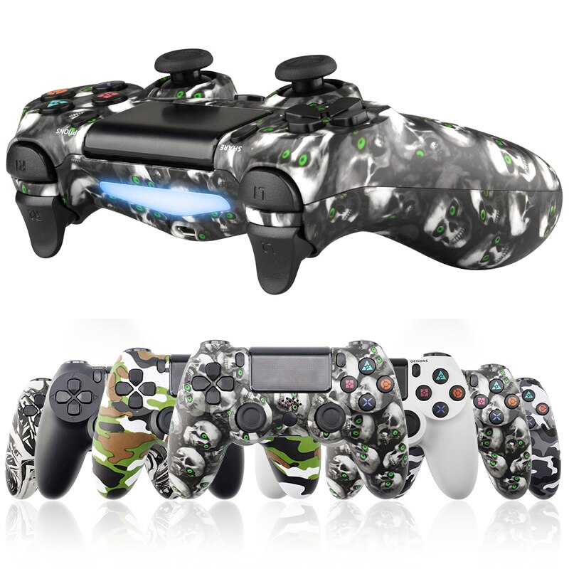 For PS4 Controller Bluetooth Gamepad for Playstation Dualshock 4 Wireless Joystick Gamepads for PS4/PS4 Pro Silm PS3 PC Game Pad 2020 wireless bluetooth game controller for ps4 joystick for playstation dualshock 4 gamepad for mando ps4 console ps4 gamepads