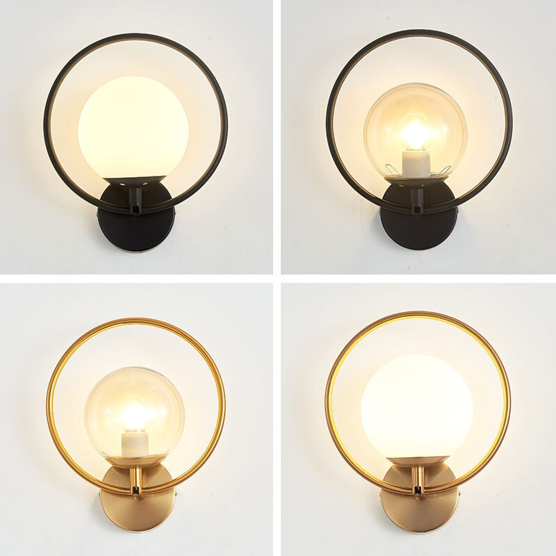 Nordic Led Indoor Wall Lamp Modern Bedroom Bedside Lamp Living Room Ball Wall Lamp Wall Mount Lamp  Nordic Style