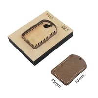 japan steel blade rule die cut steel punch 45x70mm cutting mold wood dies for leather cutter for leather crafts
