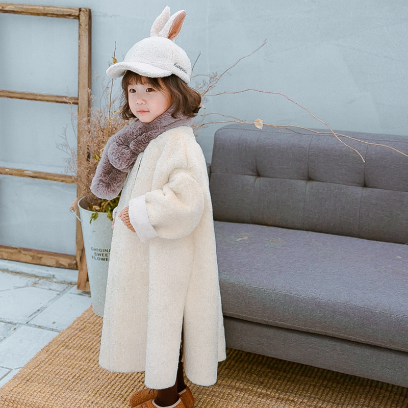 Winter Autumn Kid Thick  Woolen Jacket  for Teenage Girl Long Warm Coat Toddler Girl Fall Clothes Outwewar For Kids Loose Jacket enlarge