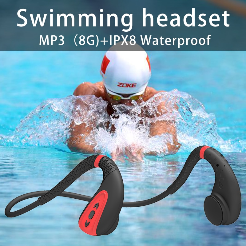 Wireless Bluetooth 5.0 Outdoor Headphones Bone Conduction Swimming Painless and Waterproof, Fit for Xiaomi Huawei enlarge
