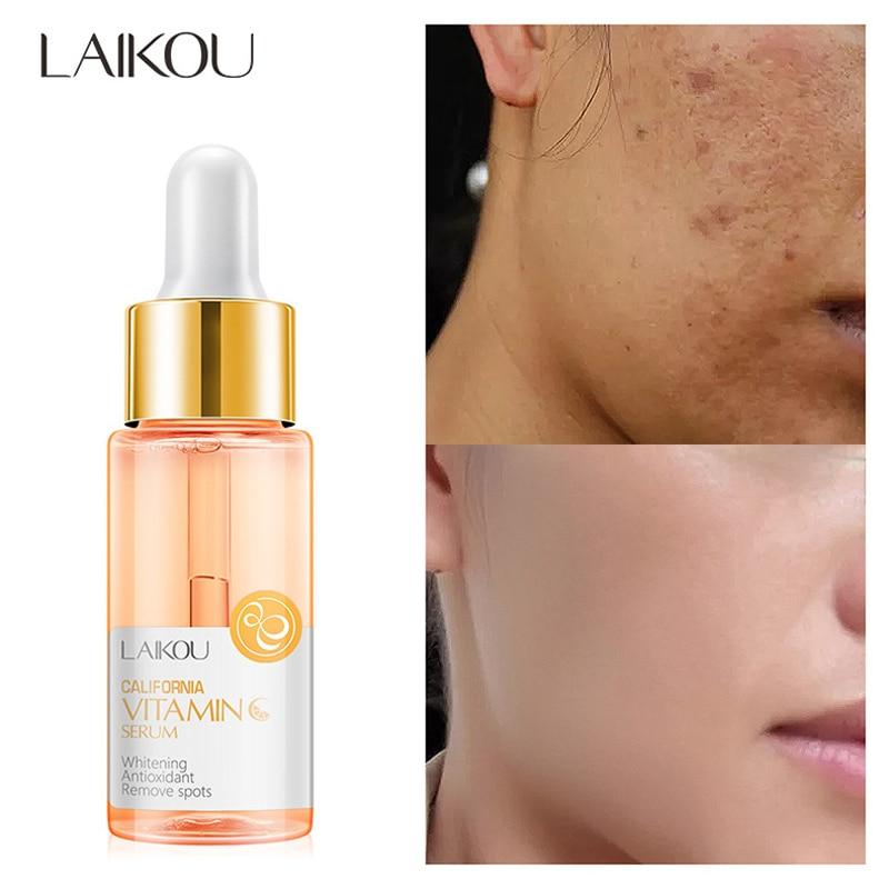 LAIKOU Vitamin C Face Serum Hyaluronic Acid Moisturizing Acne Removal Essence Whitening Anti-aging Anti-wrinkle Face Care недорого