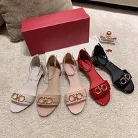 2021 summer fashion design soft comfortable womens sandals genuine cowhide sheepskin patent leather high heel 3 5 cm