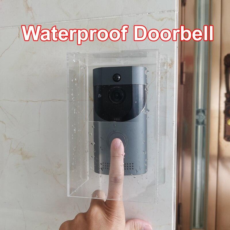 واي فاي الجرس في الهواء الطلق مقاوم للماء الذكية فيديو جرس الباب 720P جهاز اتصال داخلي لاسلكي مكافحة سرقة إنذار IP كاميرات أمنية المنزل الذكي