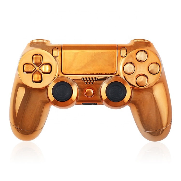 Metal Plated Orange Case For PS4 Playstation 4 Controller Shell