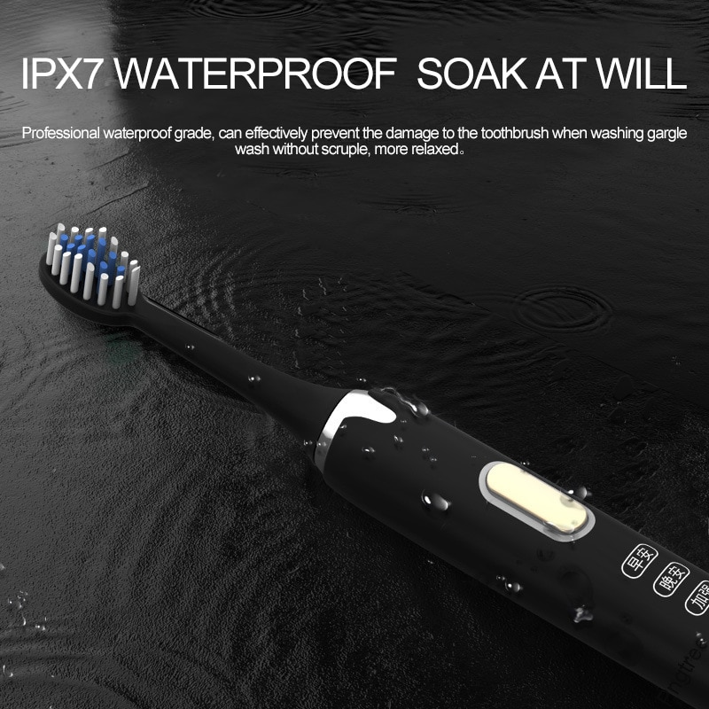 Ultrasonic Sonic Electric Toothbrush Rechargeable Tooth Brushes Washable Electronic Whitening Teeth Brush Power Mode Dry Battery enlarge