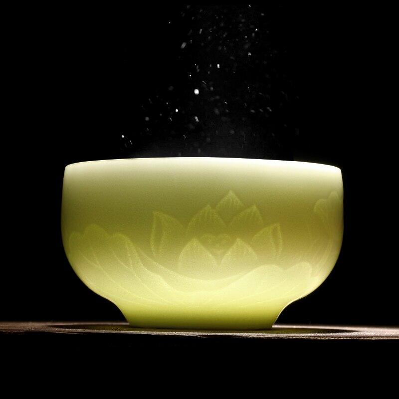 Longquan celadon فنجان الشاي الكونغ فو أكواب شاي السيراميك عينة الشاي كوب رئيسي كوب واحد لوتس كأس الشخصية باليد