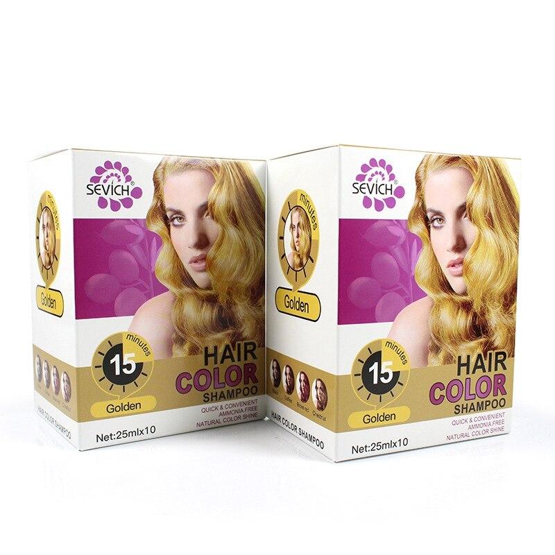 Natural, no-irritante pelo champú de Color puro plantas teñido champú Color de pelo producto