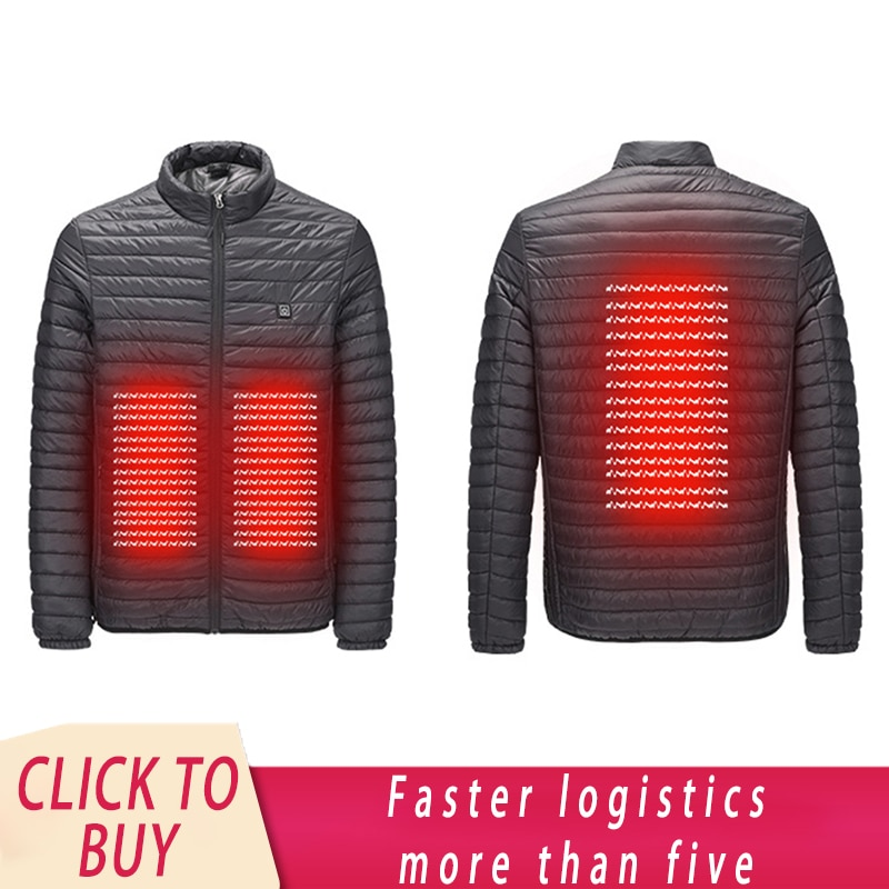 Electric Heated Jacket Vest Down Cotton Outdoor Equipment Electric Heating Winter Thermal Warmer Jacket Winter Warmer Asian Size