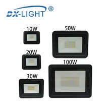 LED Flood Light 10W 20W 30W 50W 100W 220V-240V Floodlights Lamp Waterproof IP68 Whgite Reflector Led Exterior Outdoor Spotlight