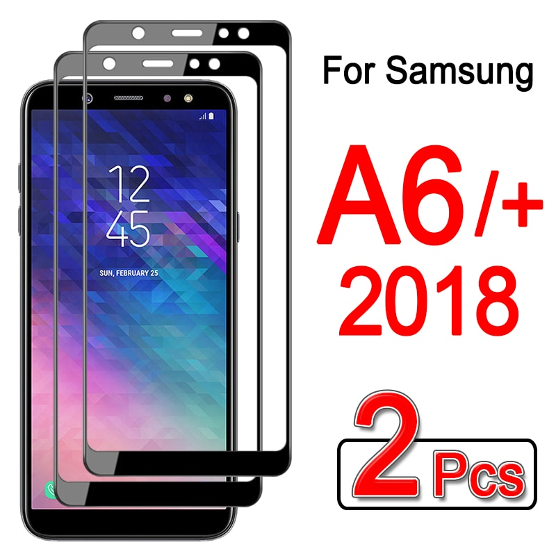 2pcs tempered glass for samsung galaxy a6 plus 2018 screen protector for samsung a 6 plus 6plus a6pl