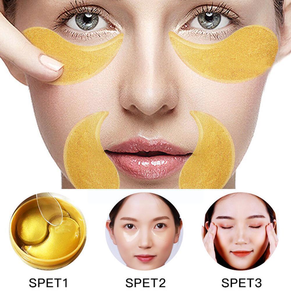 Gold Collagen Eye Mask Anti-Puffiness Anti-Aging Moisturizing Eyes Remove Dark Care Eye Care Circles Q5H6 недорого