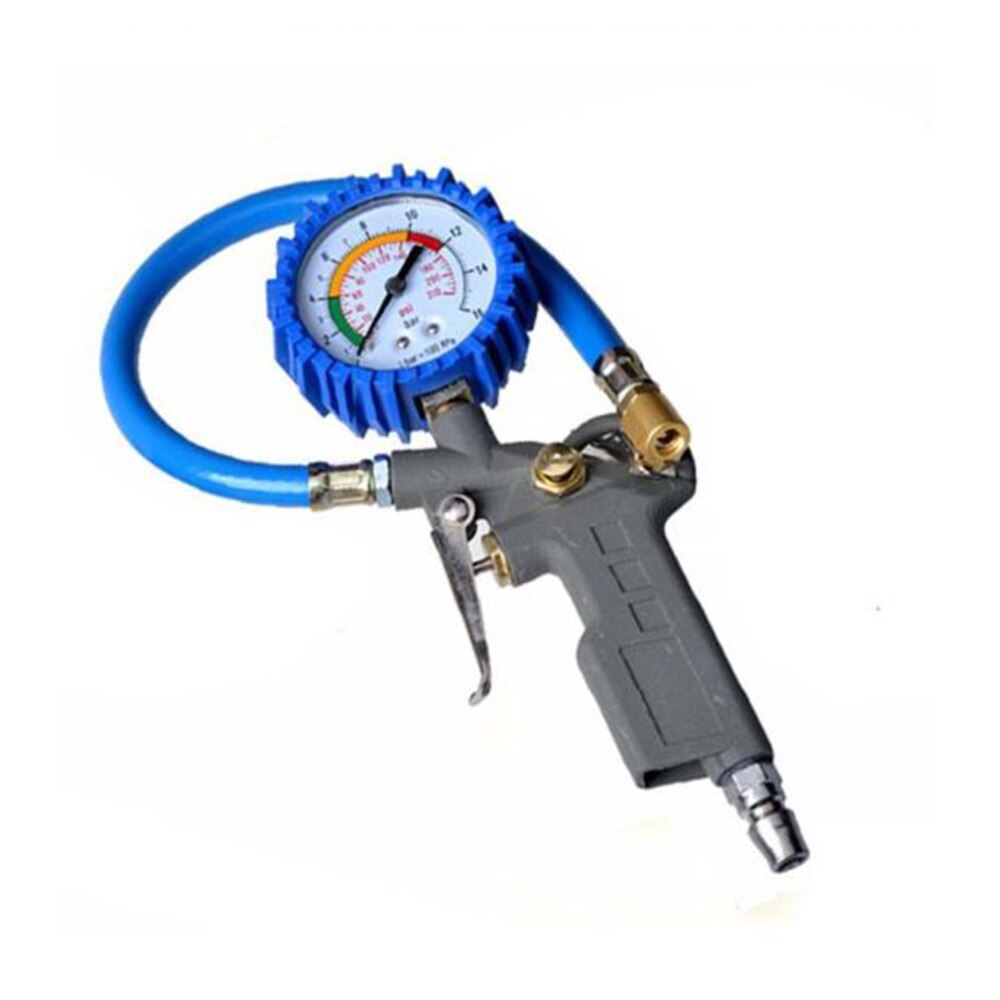Inflador de neumáticos de aire con pinza de presión Digital LCD de alta precisión