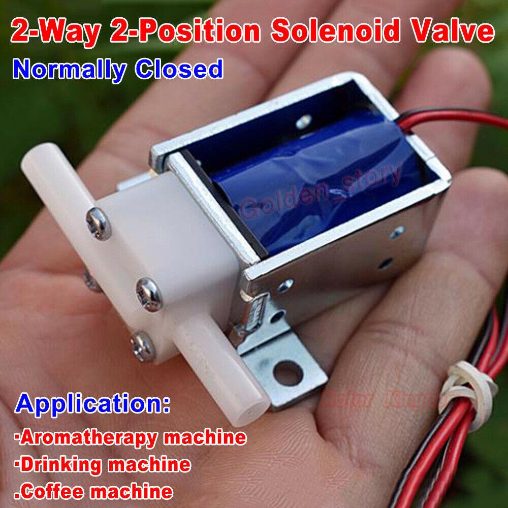 Micro mini válvula solenoide eléctrica DC 12V N/C normalmente cerrado de agua Válvula de Control de aire