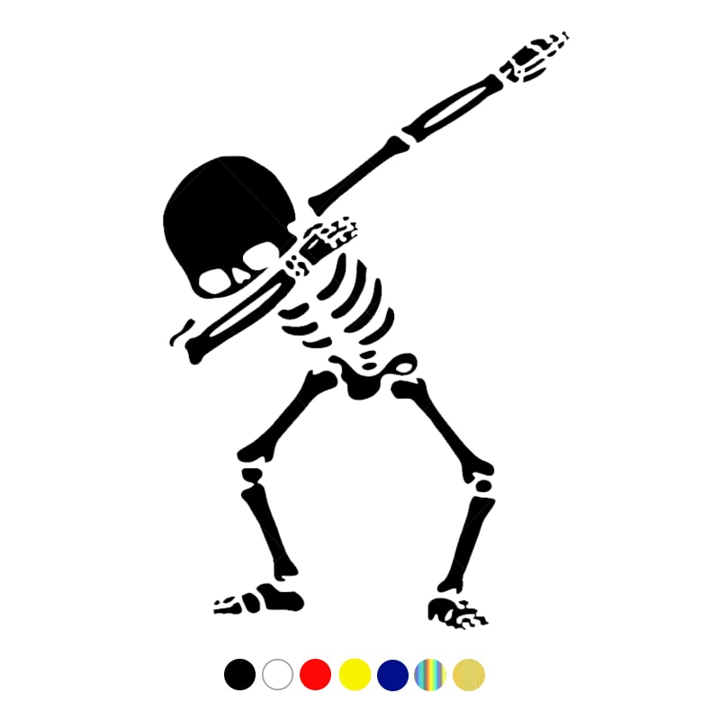 CS-10058# наклейки на авто Танцующий скелет водонепроницаемые наклейки на машину наклейка для авто автонаклейка стикер этикеты винила наклейк...