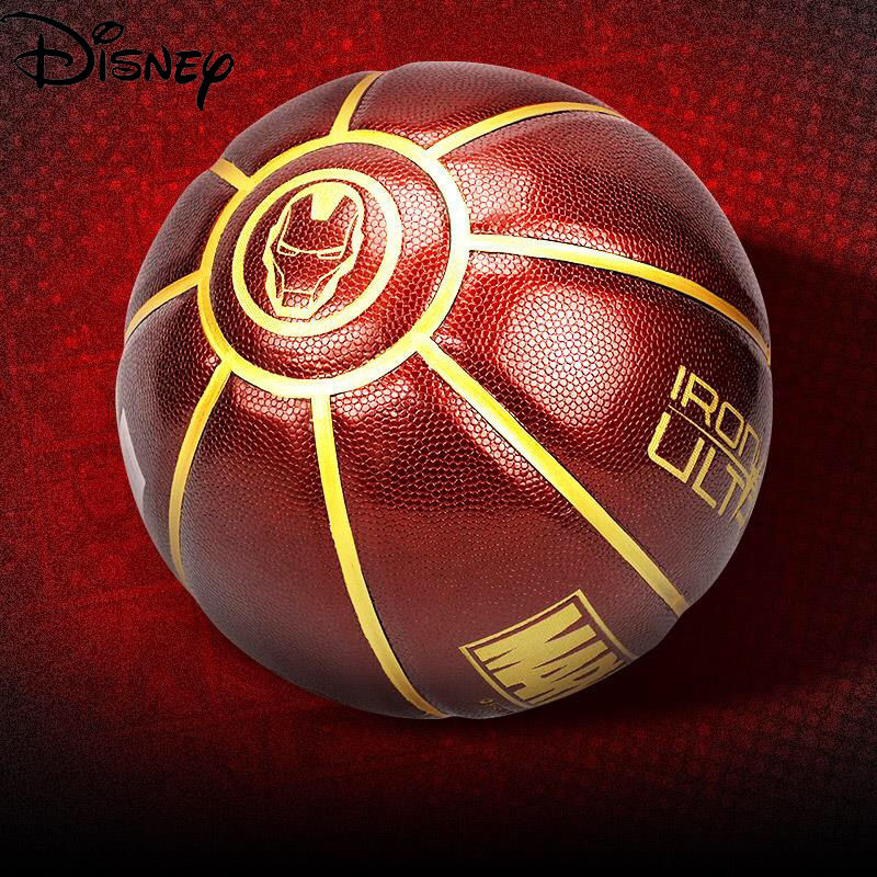 Disney Marvel Adult Basketball No. 7 Wear-resistant PU Material Youth Fashion Cool Training Ball Game Dedicated Basketball
