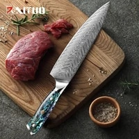 xituo professional kitchen knife japan 67 layers damascus steel super cook knife very sharp japanese core blade 8 in chef knife