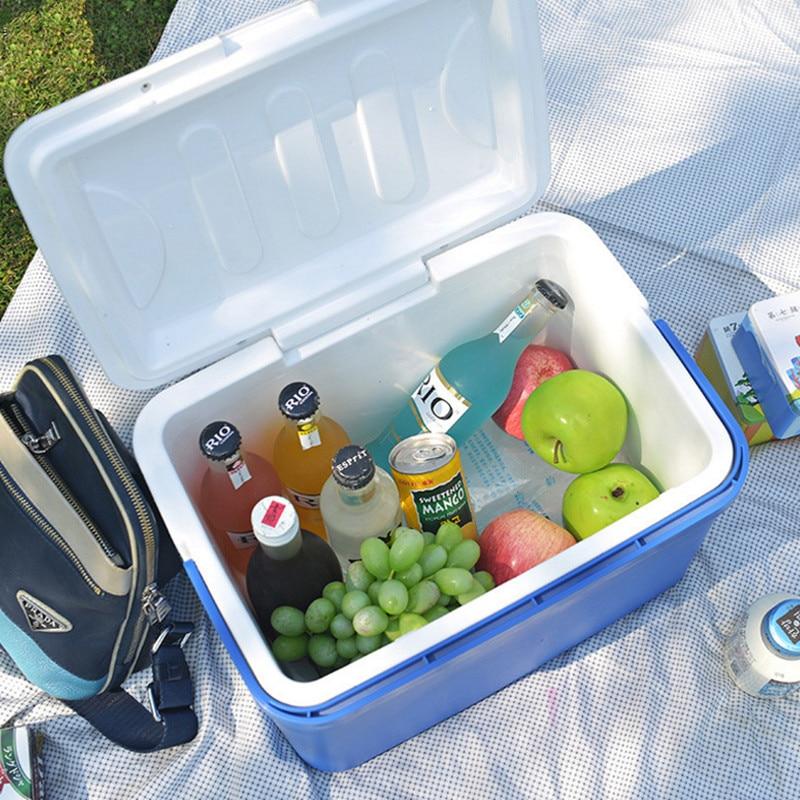 13L Mini refrigerador de coche de doble uso congelador hogar preservación térmica del calor y nevera fría portátil de viaje caja de refrigeración de camping
