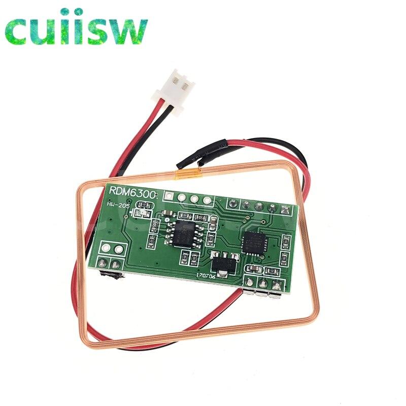 10 sztuk UART 125Khz EM4100 karta RFID klucz ID czytnik moduł RDM6300 (RDM630) dla Arduino