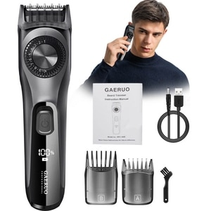 Adjustable Beard Trimmer for Men Professional Mens Hair Trimmer with 2 Combs X7JA