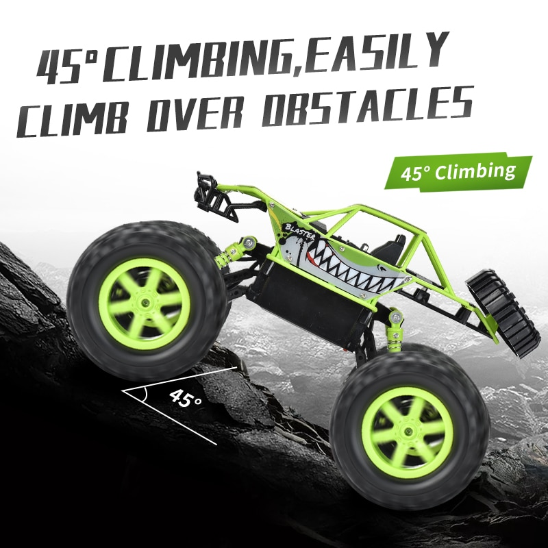 Conqueror off-road remote control car four-wheel drive mountain competition climbing remote control car beach children's toys4WD enlarge
