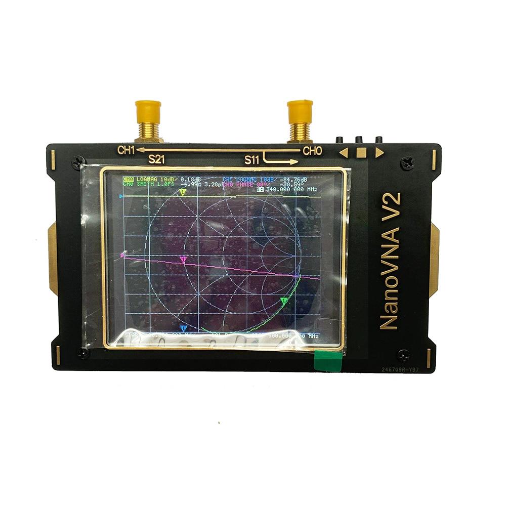 3,2 pulgadas 3G de analizador de red 50KHz ~ 3GHz S-A-A-2 NanoVNA V2 Analizador de antena de onda corta HF VHF UHF Duplexer filtro + batería