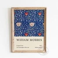 william morris exhibition museum poster medway pattern fabrics design canvas painting vintage art prints wall decor picture