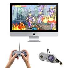 1 pièces rétro USB contrôleur rétro Super pour Nintendo SNES USB contrôleur pour PC pour MAC contrôleurs