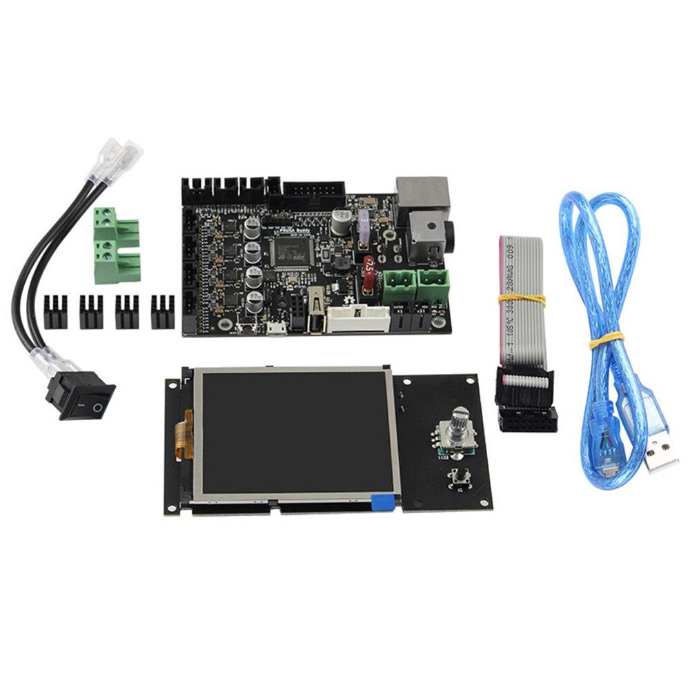 1 مجموعة ملحقات طابعة ثلاثية الأبعاد استنساخ اللوحة المتكاملة Tmc2209 كتم سائق وشاشة عرض LCD28 صغيرة ل Prusa Mini