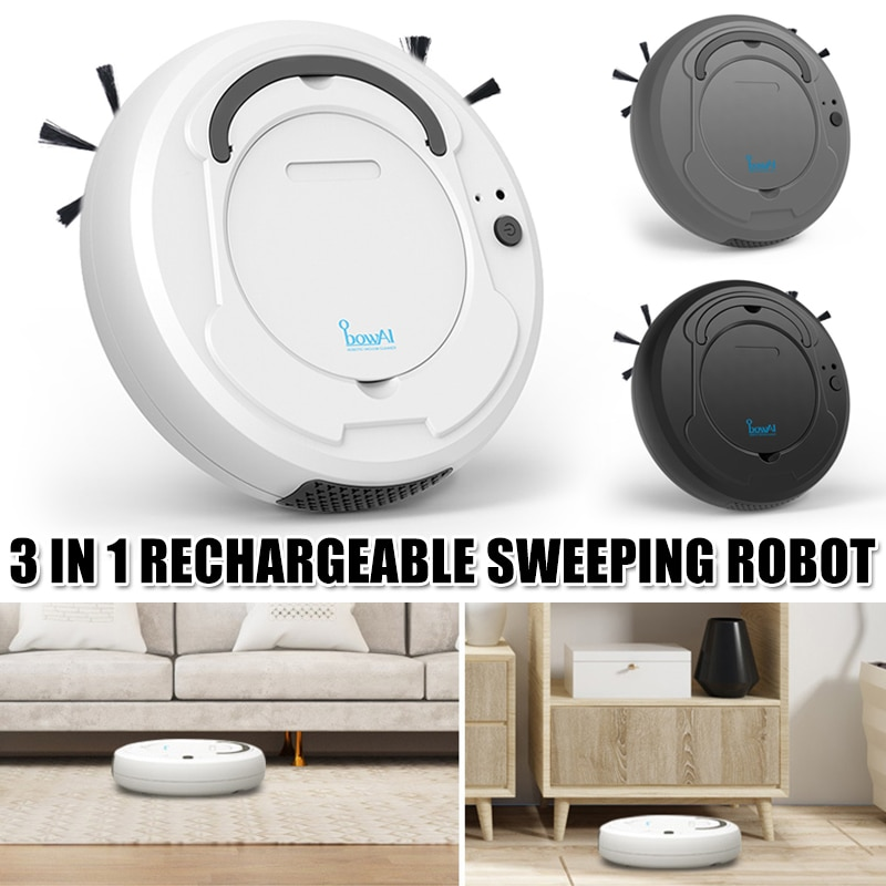 Automatic Robot 3-In-1 Smart Wireless Sweeping Vacuum Cleaner Dry Wet Cleaning Machine Charging Intelligent Vacuum Cleaner Home enlarge