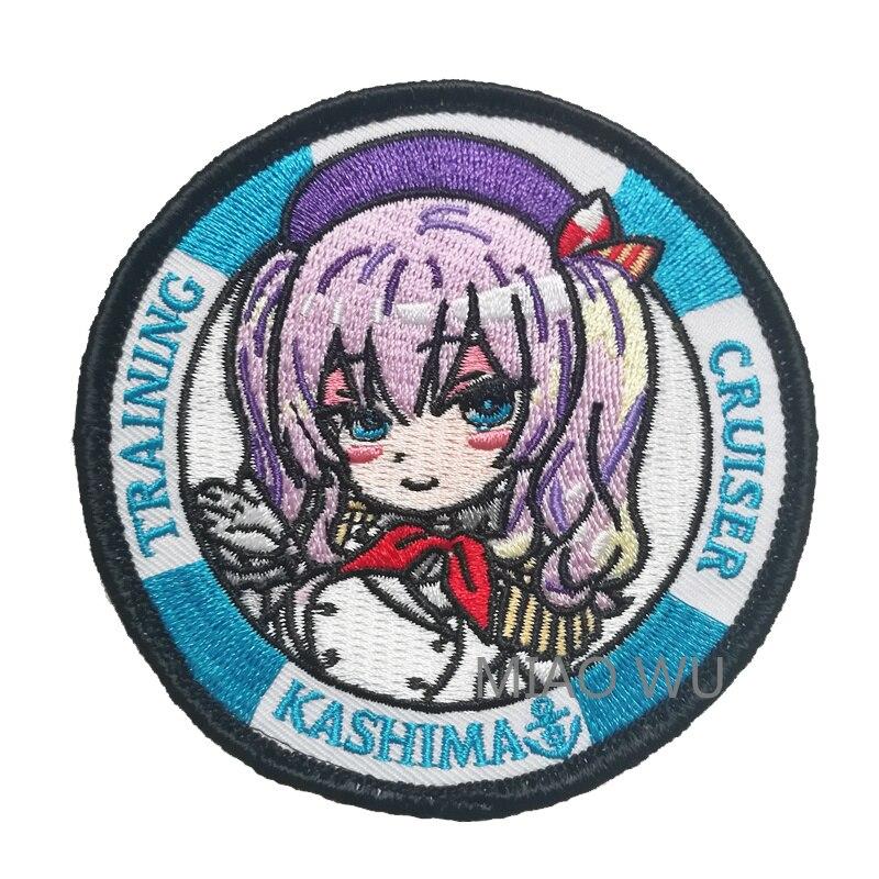"""Anime Kantai colección Kashima bordado parche coleccionable Cosplay parches insignia aplique bolsa artesanía accesorios de disfraz 3 """"4"""""""