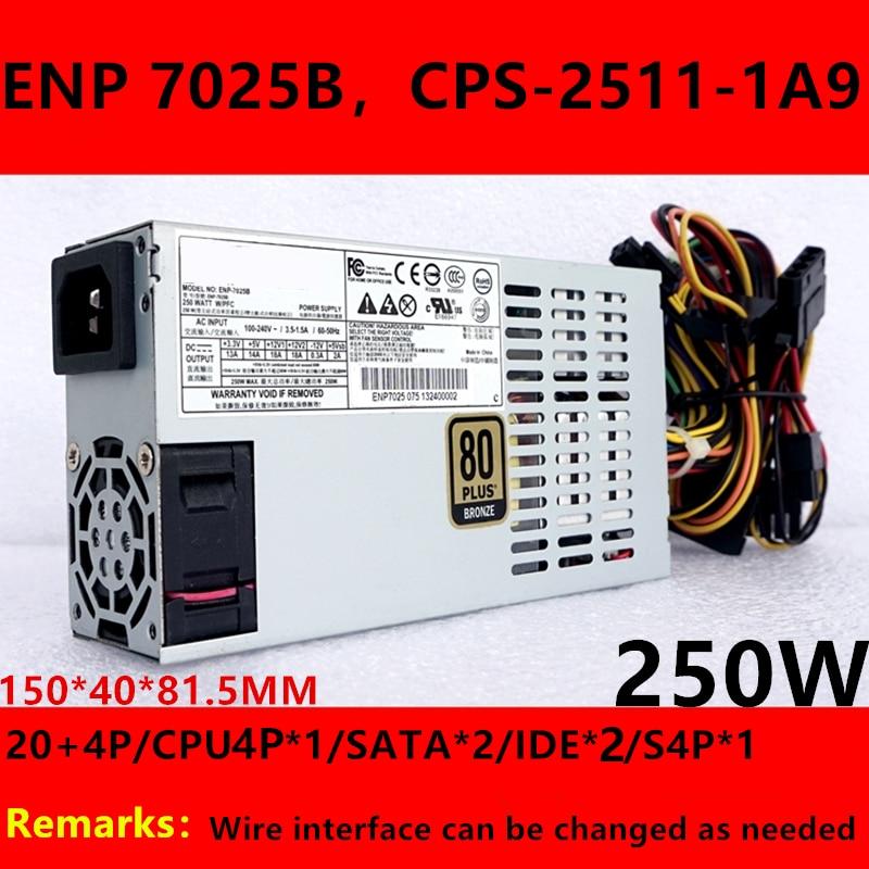 Nueva PSU para mejorar Compuware FLEX pequeño 1U 250W fuente de alimentación ENP-7025B CPS-2511-1A9