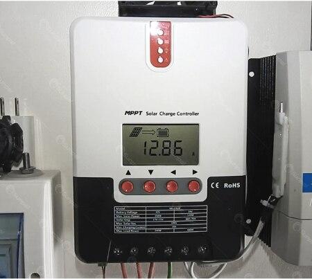 SRNE ML2430/ML2440 30A/40A 12V24V automático MPPT, controlador de carga Solar para baterías, cargador regulador solar PV con BT-1 LCD de RM-5