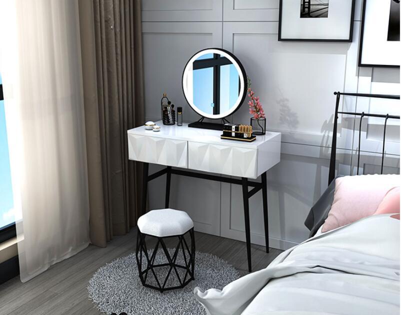 Nordic туалетный столик чистый красный ins ветер спальня современный простой светильник класса люкс туалетный столик/туалетный столик и эконом...