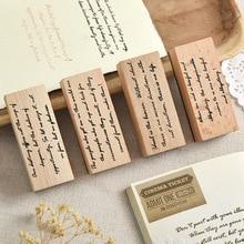 Vintage Big Writer Series English Stamp DIY Wooden Rubber Stamps for Scrapbooking Stationery Scrapbooking Standard Stamp