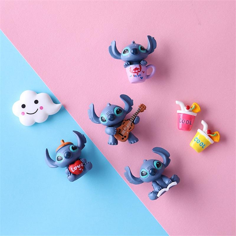 Disney Stitch toy Refrigerator Magnets Cartoon Soft Glue Sticker Fridge Magnet Mini figure Christmas gift for kid