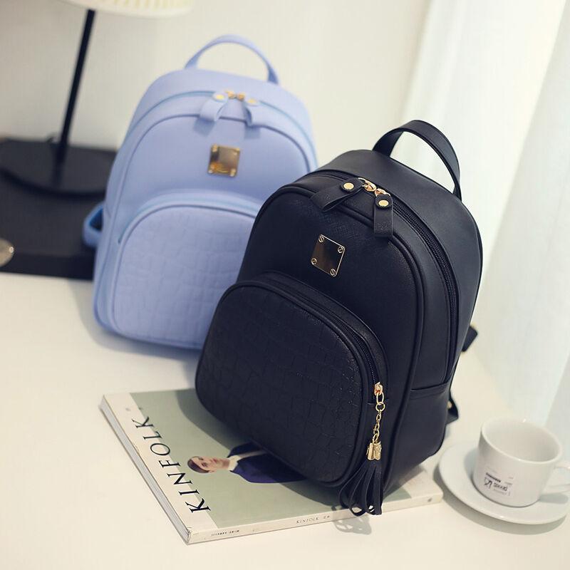 2019 novo estilo de moda feminina meninas do falso mochila de couro mochila saco escolar saco de viagem 1 pc venda quente