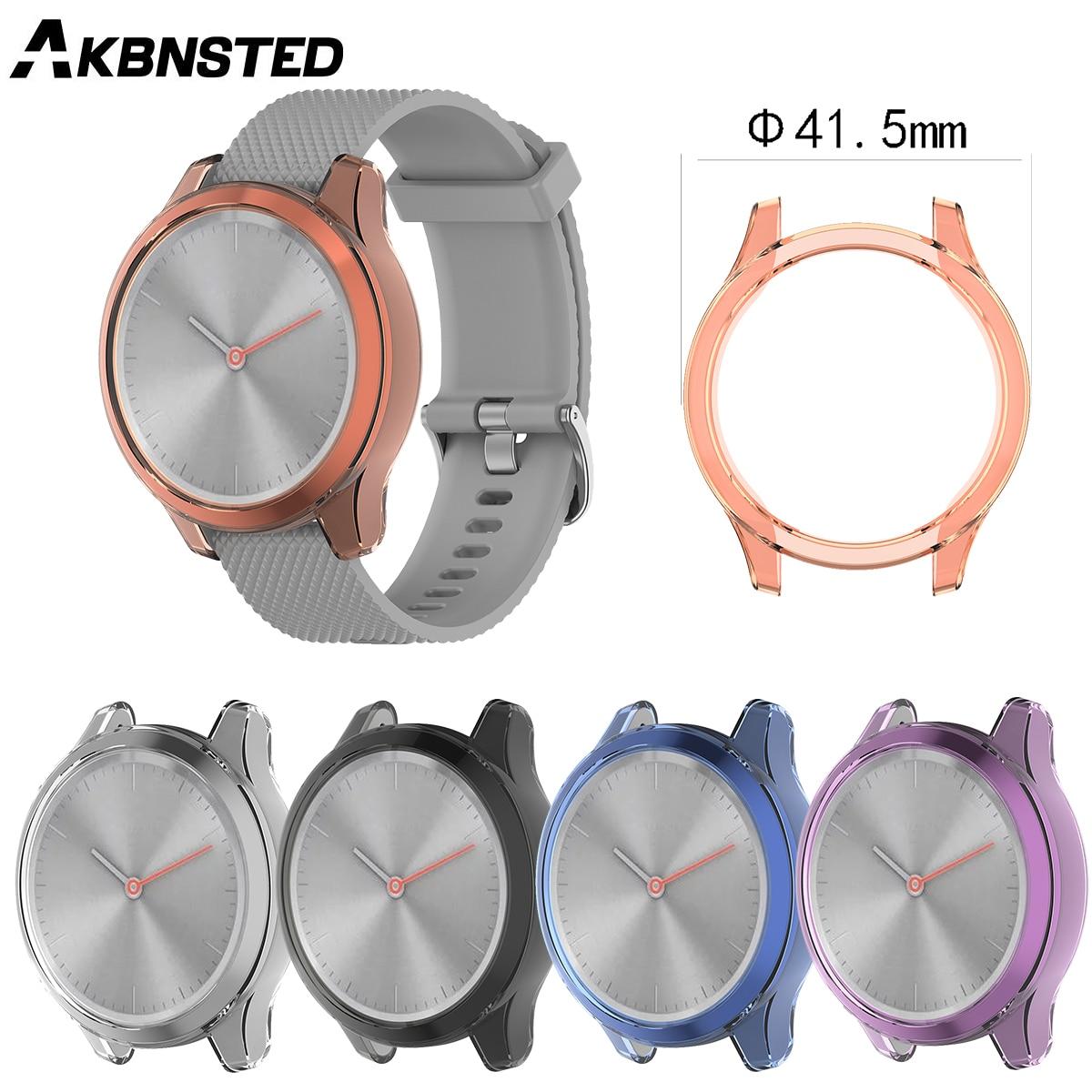 AKBNSTED TPU funda protectora de silicona transparente para Garmin vivomove 3 S/move 3S Smart Watch funda de repuesto