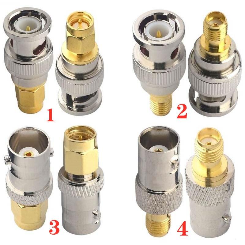 JX stecker 2 stücke RF adapter BNC-SMA Bnc Jack Nickel Plating Zu SMA Weibliche Stecker Gold Plating Jack RF stecker Gerade