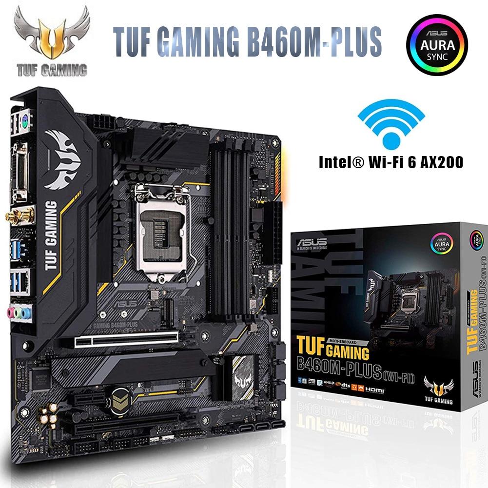 لوحة أم ASUS TUF للألعاب طراز B460M اللوحة الرئيسية LGA1200 Plus وwifi 6 خاصة بمعالج Intel LGA 1200 10th Gen Micro ATX وusb 3.2 DDR4 ذاكرة RGB