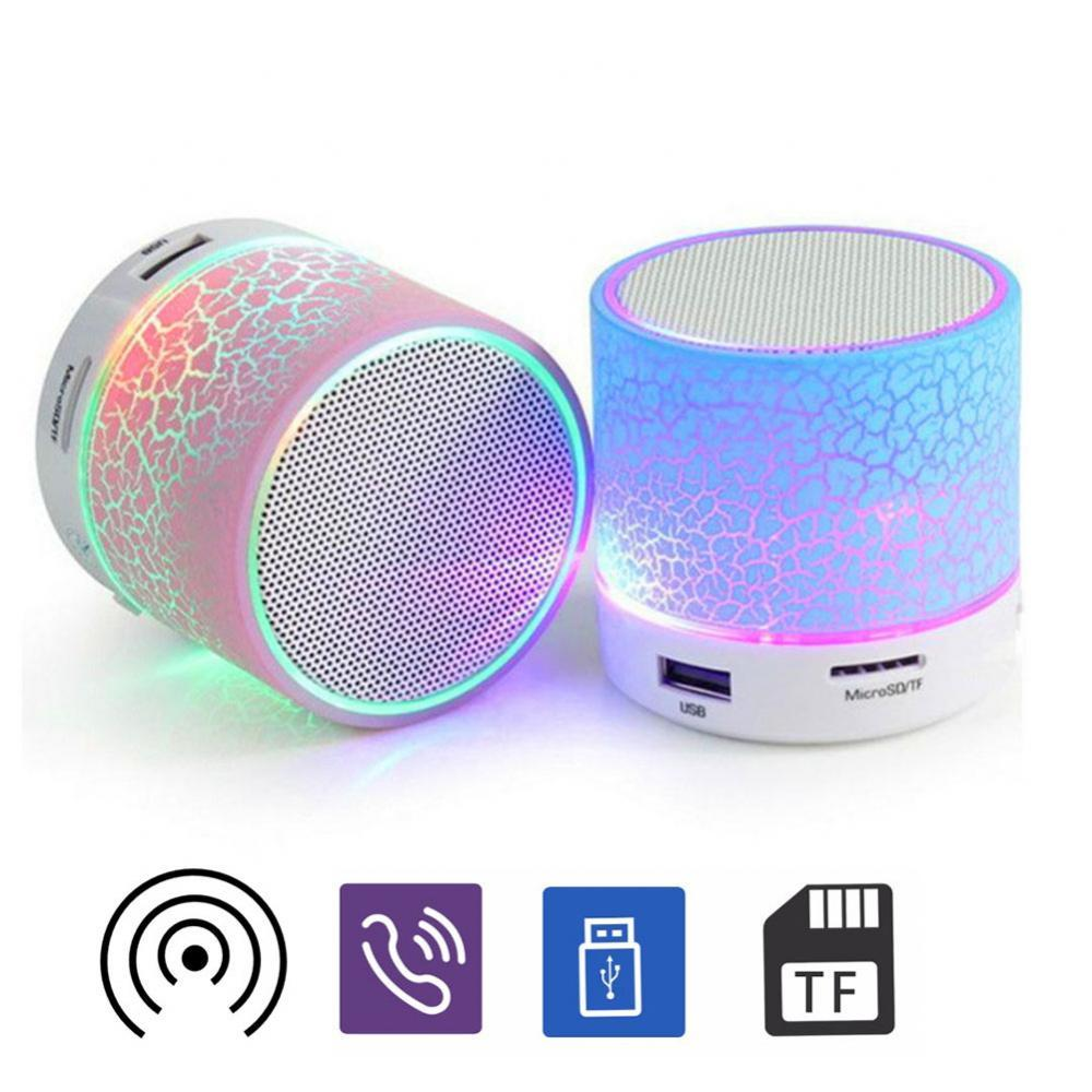Wireless Bluetooth Speaker LED Light Music Player Portable Crack Rechargeable
