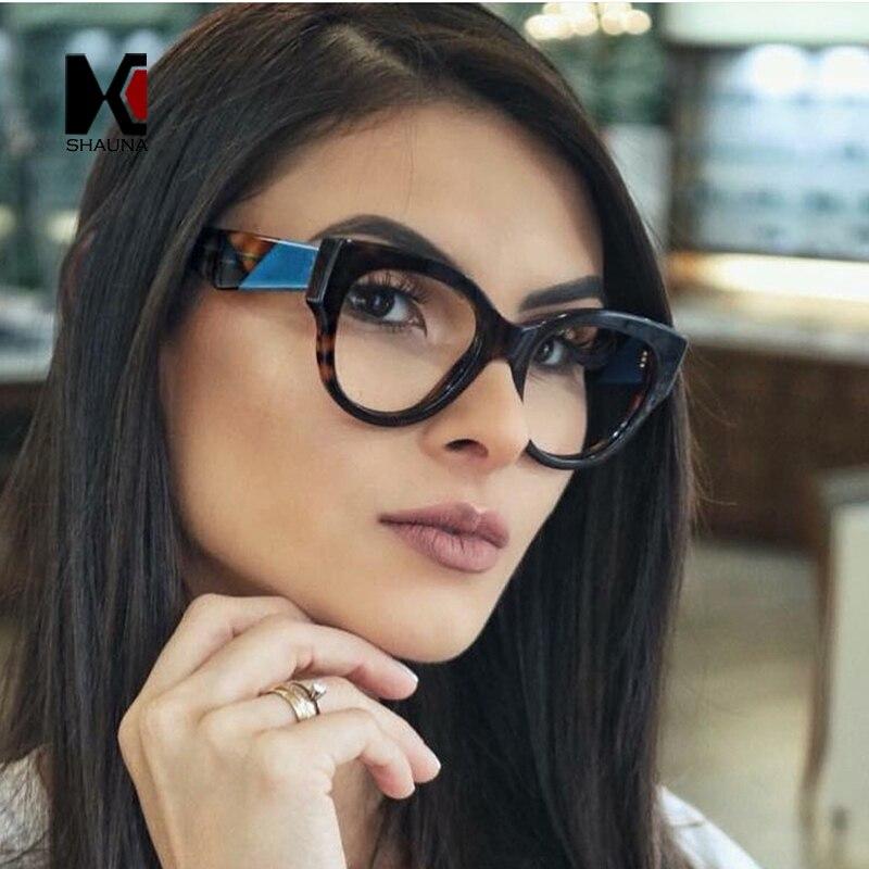 SHAUNA Fashion Mixed Colors Women Eyeglasses Frame Reading Glasses UV400