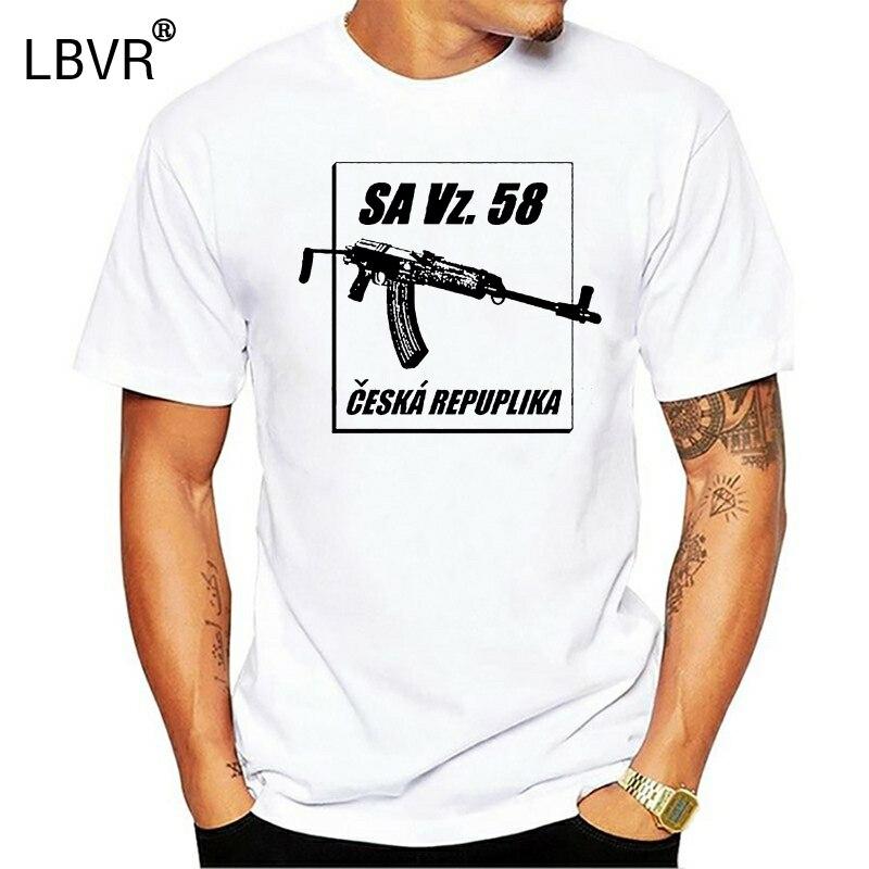 Новинка лета 2019, мужские Модные чешские винтовки VZ58 SA Vz. Футболка в стиле «чешка»; 58
