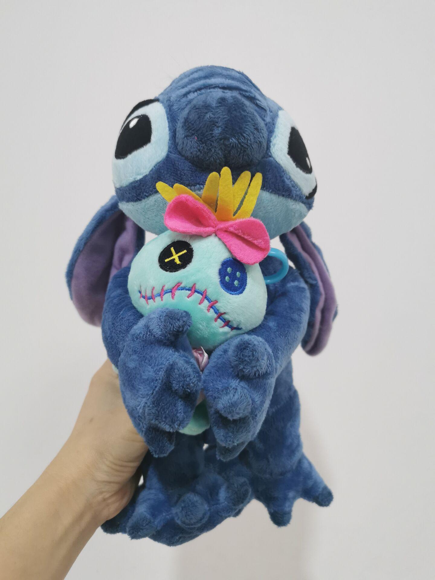 Потрясающий синий Лило и стежок, обнимающий ворс, стиль, плюшевая коллекция для мальчиков, игрушки, мультяшный рисунок, игрушка, кукла 37 см, а...