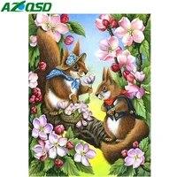 AZQSD     peinture diamant motif ecureuil  broderie  image en strass  dessin anime  couture  decor de maison  bricolage