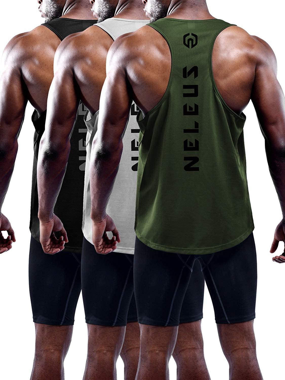 JANSANELIN Tide Brand Summer Vest Leisure Sports Fitness Quick-Drying Breathable Sleeveless Men's Cl