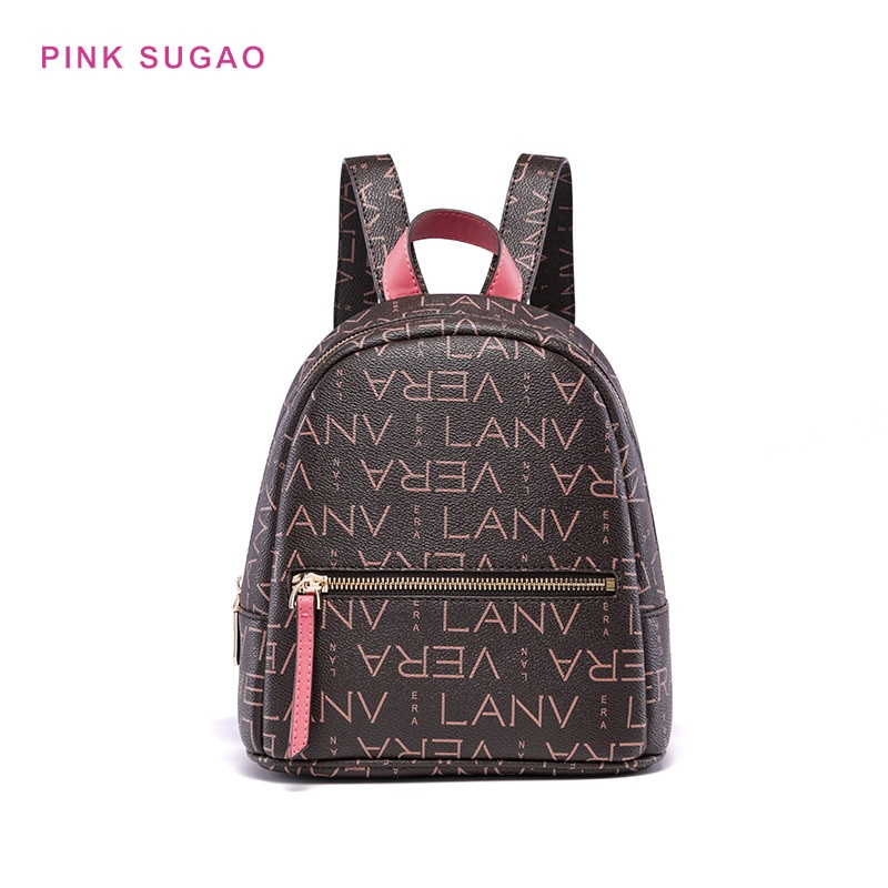 Розовые рюкзаки Sugao, кожаные рюкзаки, Женский дорожный рюкзак, маленький рюкзак, сумка для книг, рюкзак для ноутбука, кошелек, модная сумка че...