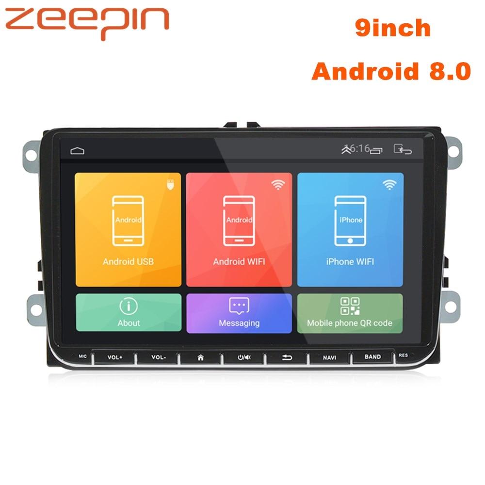 Zeepin ML-CKVW92 9 pulgadas Android 8,0 Radio Universal del coche para VW 2din Quar Core 1,2 GHz navegación GPS del coche centro reproductor Multimedia