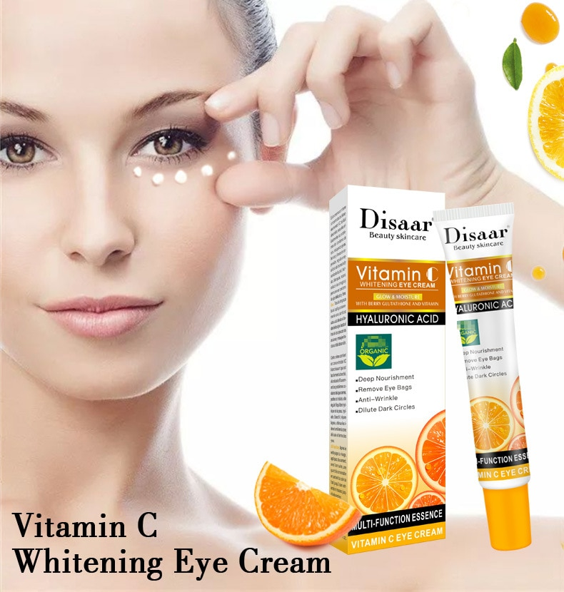 VC Serum Brightening Eye Cream  Anti-wrinkle Age Remover Dark Circles Firming  Against Puffiness And Bags Essence Eye Serum Care недорого